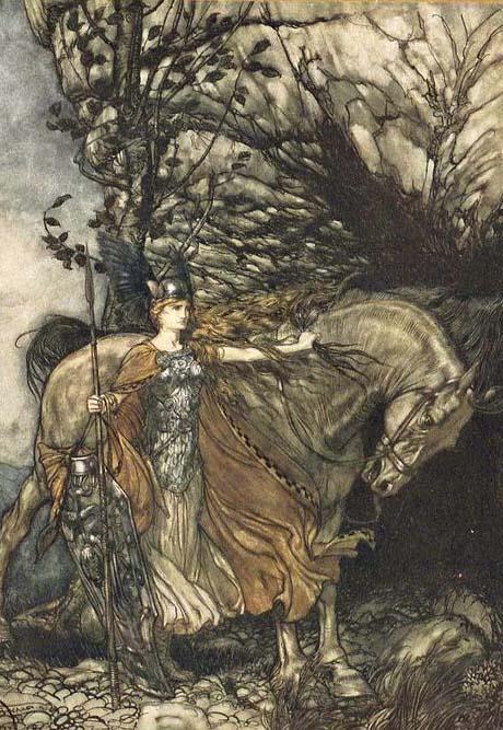 Brunnehilde, L'anneau du Niebelungen, Arthur Rachkam (1910)