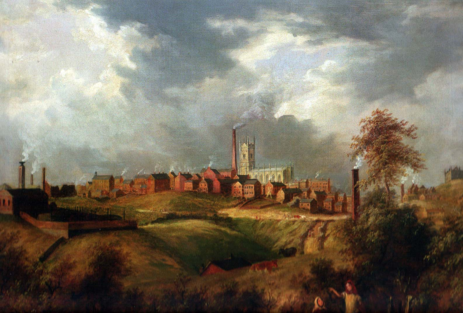 Oldham from Glodwick, James Howe Carse, 1831