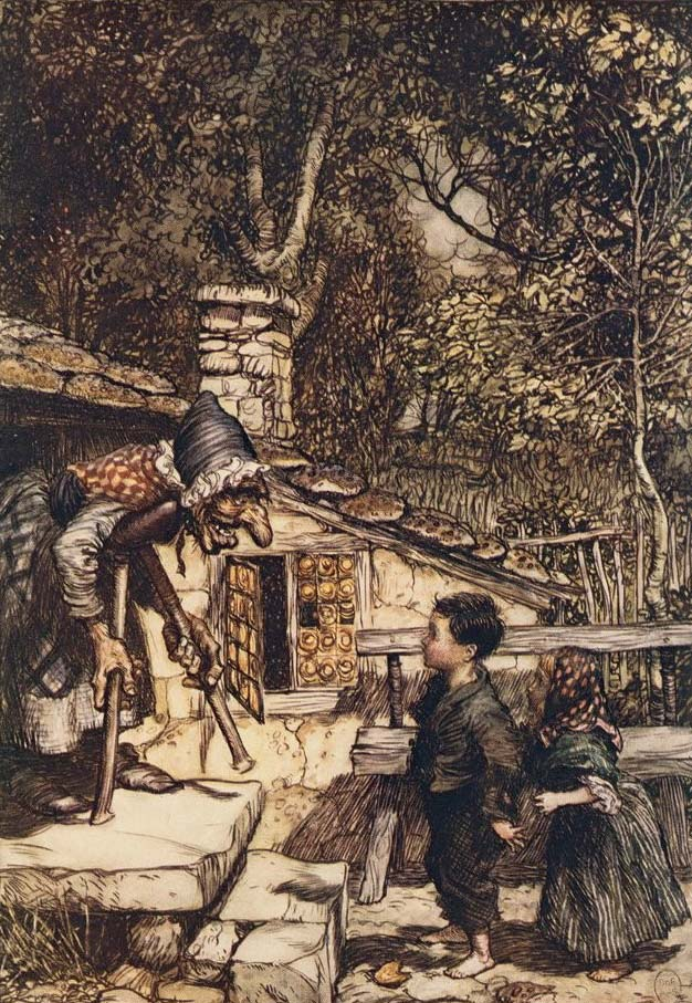 Hansel and Gretel, The Fairy Tales of the Brothers Grimm, Arthur Rackham (1909)