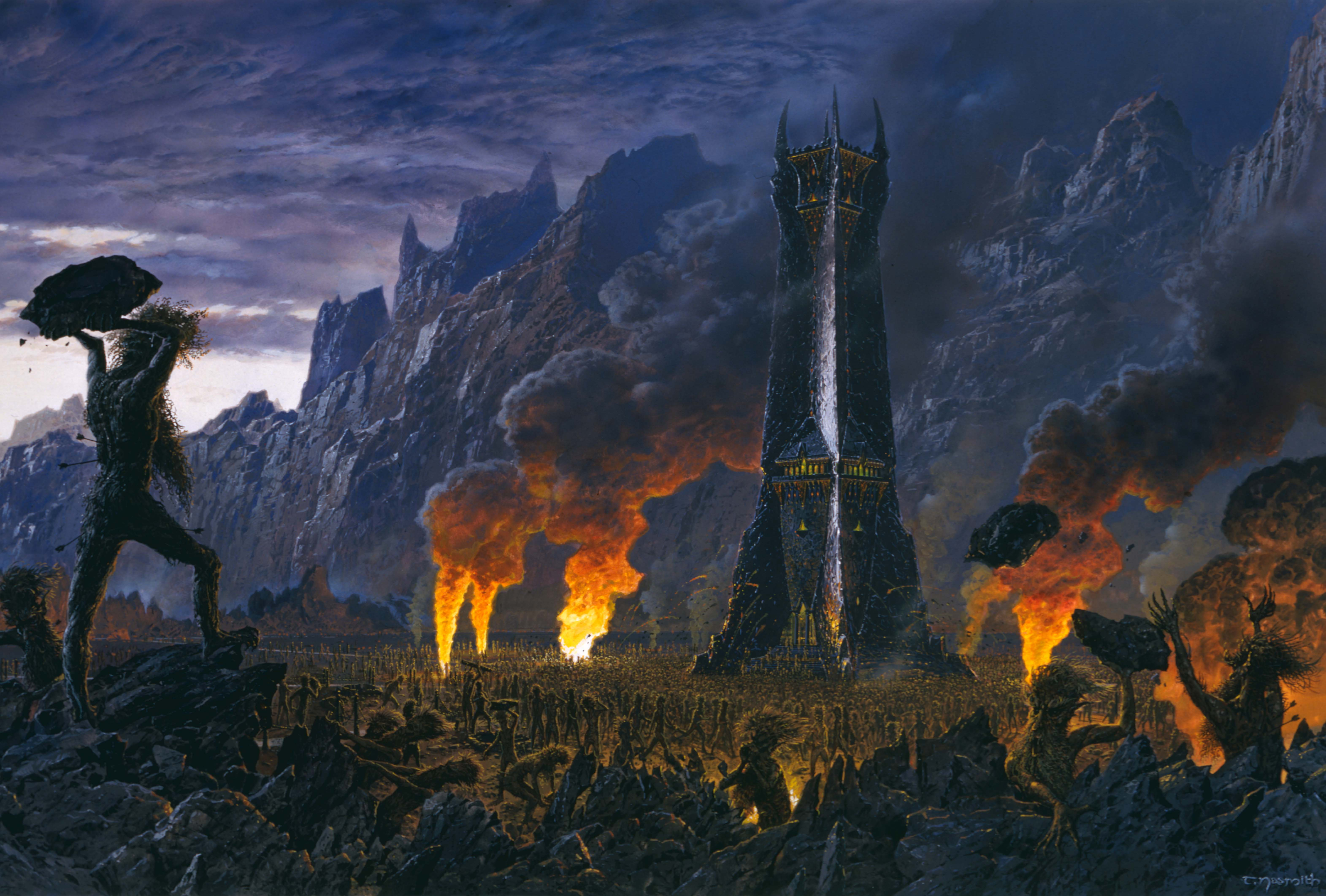 The Wrath of the Ents, illustration by Ted Nasmith (2003)