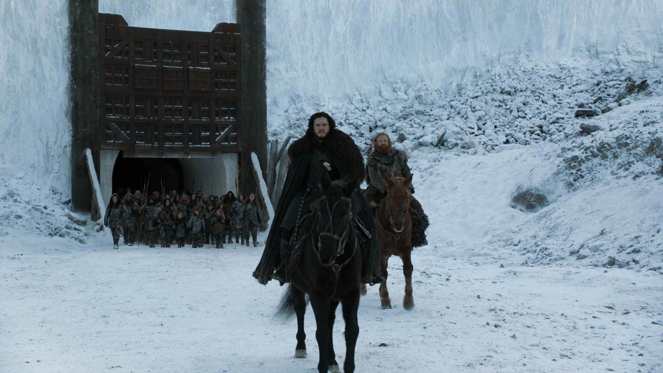 Jon Snow in <em>The Game of Thrones</em>, american series created by David Benioff and D. B. Weiss after G.R.R. Martin's work (2011 à 2019)