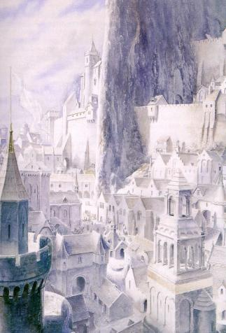 Minas Tirith, <em>The Lord of the Rings (3, Return of the King)</em>, written by J.R.R. Tolkien and illustrated by Alan Lee (2016)