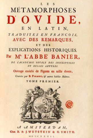 <i>Les Métamorphoses d'Ovide</i>, écrit par Ovide et traduit par Antoine Banier (1732)
