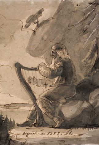 Väinämöinen, peinture de Anders Ekman (1852)