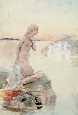 Aino, painting by Albert Edelfet
