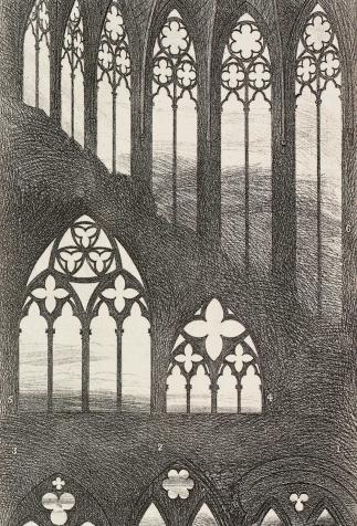 Architecture gothique : baies, <i>The Seven lamps of architecture</i>, illustration de John Ruskin (1897)