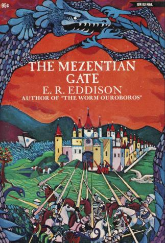 <i>The Mezentian Gate</i>, de Eric Rücker Eddison, illustré par Keith Henderson (1969)