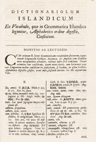 <i>Institutiones grammaticae anglo-saxonicae et moeso-gothicae</i>, de George Hickes (1688-1689)