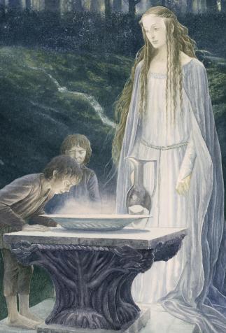 Le miroir de Galadriel, <i>Le Seigneur des anneaux, 1, La fraternité de l'anneau</i> de J.R.R. Tolkien, illustré par Alan Lee (2014)