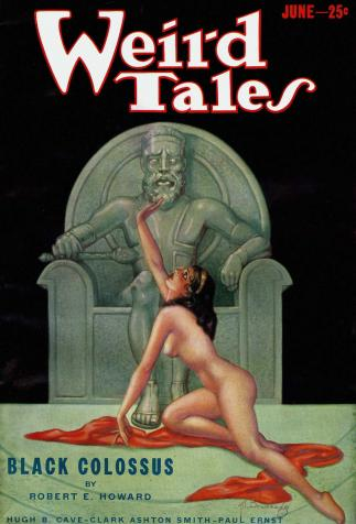 <i>Weird Tale</i>, <i>Black Colossus</i>, de Robert E. Howard, couverture illustrée par Margaret Brundage (1933)