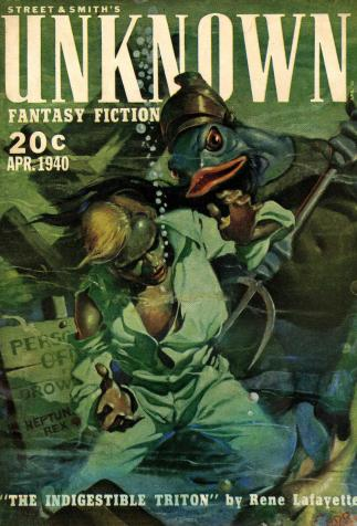 <i>Unknown</i>, <i>The indigestible Triton</i>, by René Lafayette (1940)