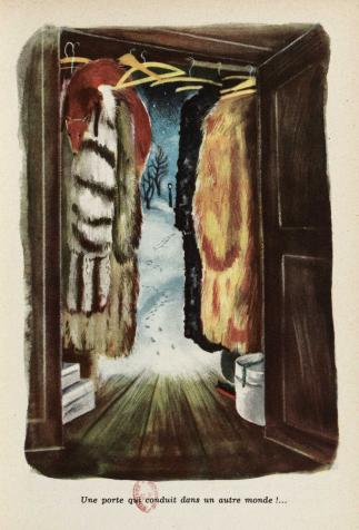 L'armoire magique dans Le Lion et la sorcière blanche, de C.S. Lewis, illustré par Romain Simon
