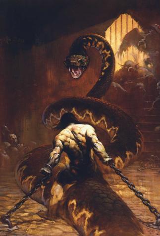 <i>Conan l'usurpateur</i>, de Robert E. Howard, illustré par Frank Frazetta (1967)