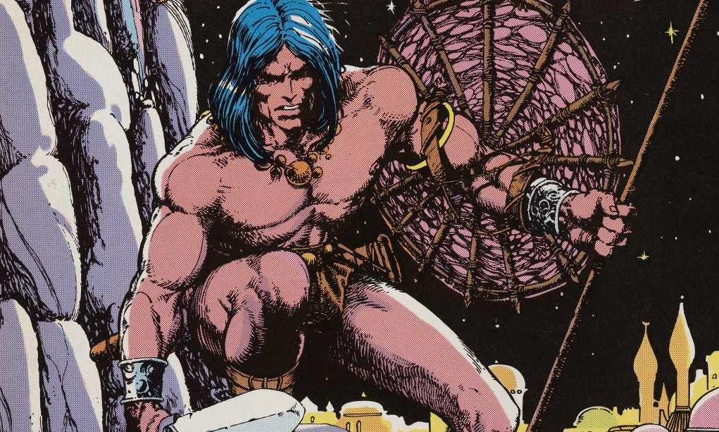 <i>The Conquering Sword of Conan, Conan the Barbarian</i>, adapted from Robert Ervin Howard and illustrated by Barry Smith (1976)
