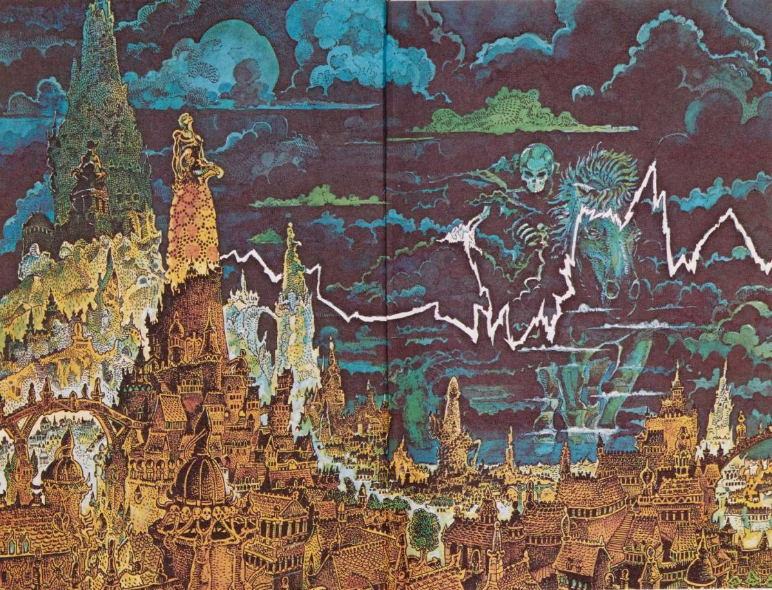 <i>Elric des Dragons, Les Yeux de l'homme de jade</i>, de Michael Moorcock, illustration de François Allot (1975)