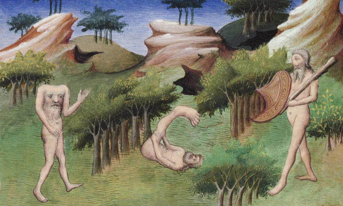 Blemmyes et Sciapodes, Livre des Merveilles