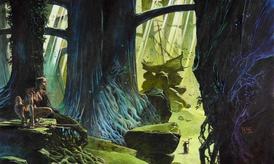 <i>La Forêt des Mythagos</i>, illustration de couverture par Guillaume Sorel (2004)