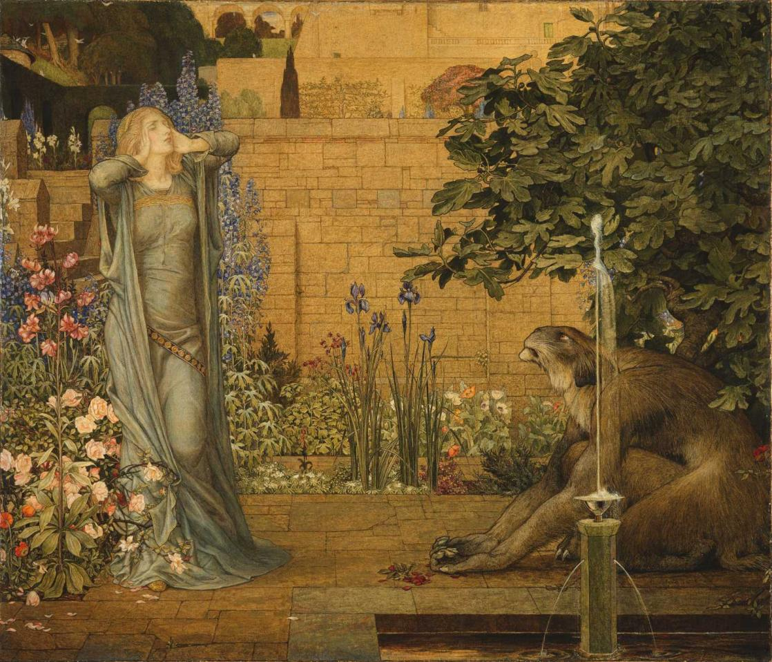<i>Beauty and the Beast</i>, painting by John Dickson Batten and Joseph Edward Southall (1904)
