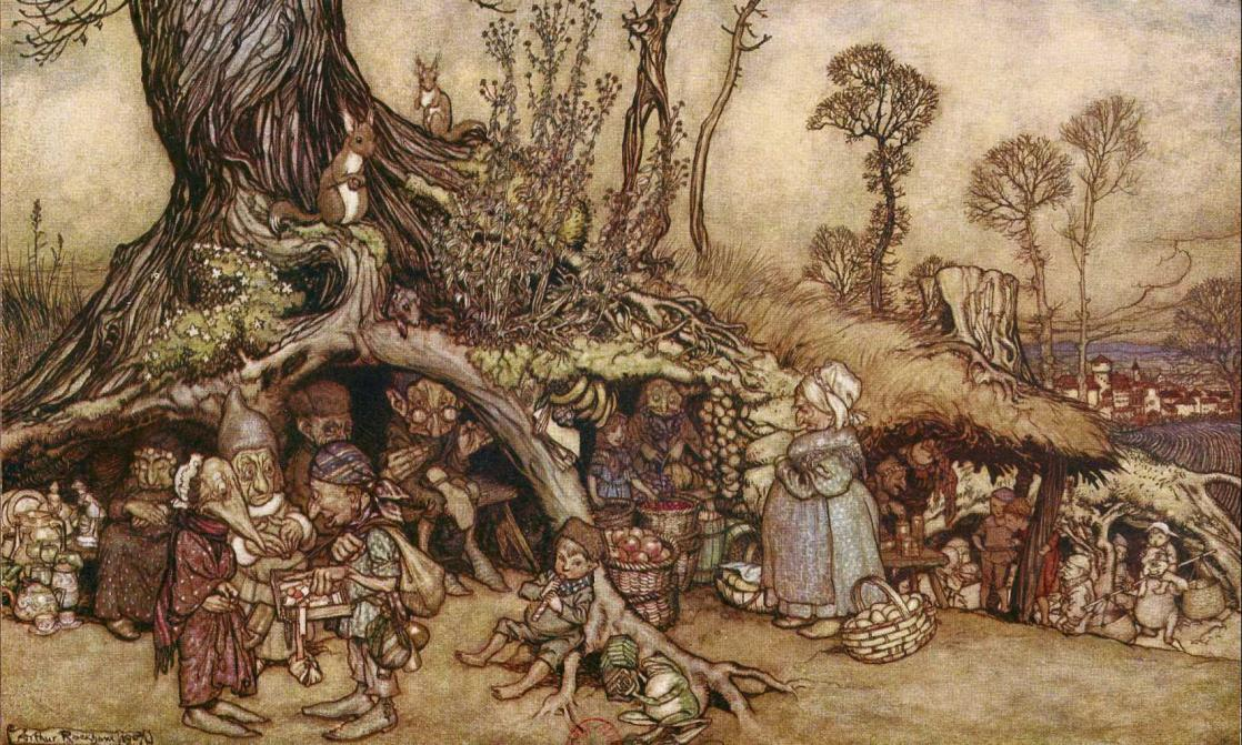 The Little People's Market, <i>Arthur Rackham's Book of Pictures</i> (1913)