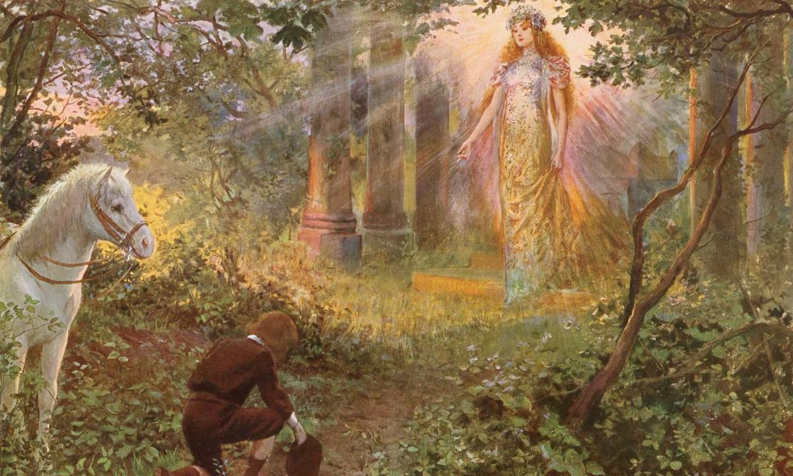 <i>La dernière fée : conte pour les enfants</i>, de Matilde Serao, illustration de Georges Antoine Rochegrosse (1909)