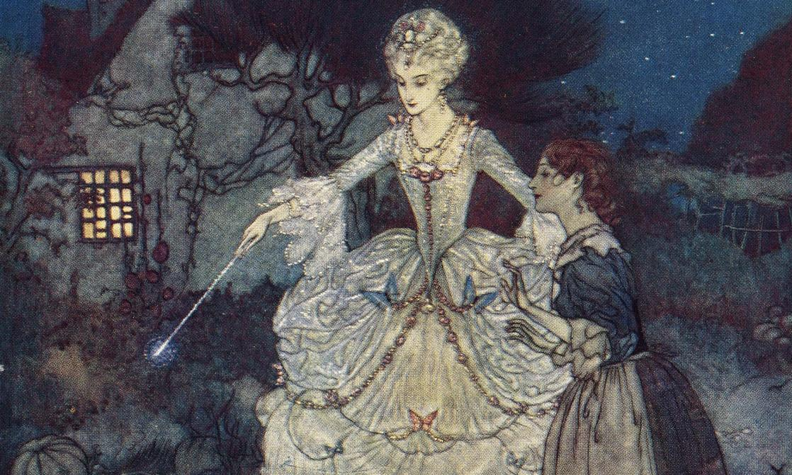 Cendrillon et la fée, <i>Edmund Dulac's Picture-book for the French Red Cross</i> (1915)