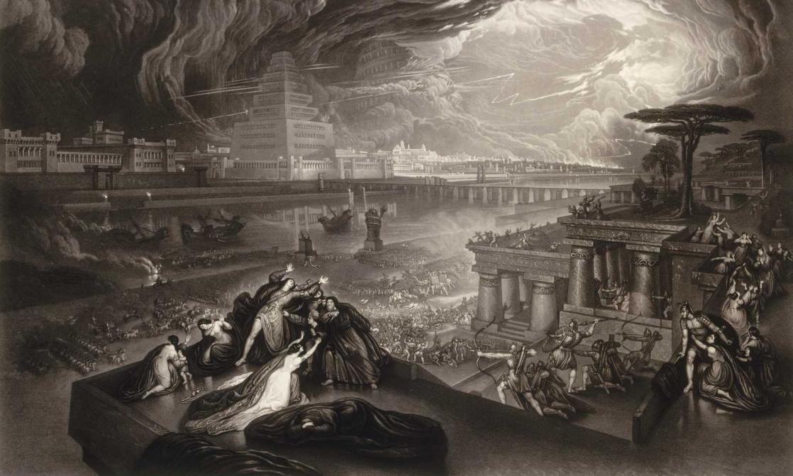 <i>La chute de Babylone</i>, d'après une peinture de John Martin, gravé par Jean Pierre Marie Jazet (XIX<sup>e</sup> siècle)