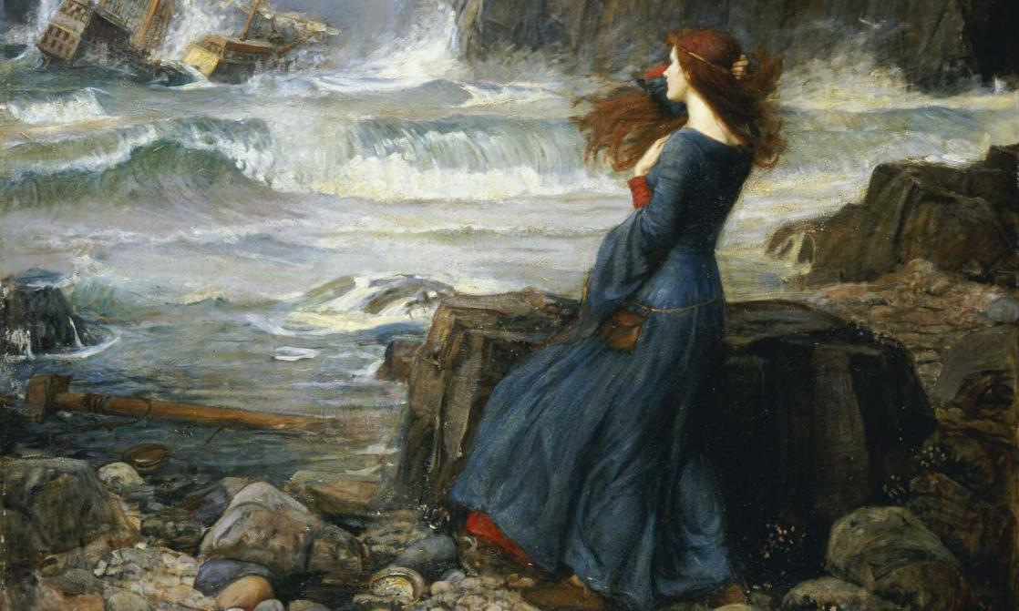 <i>Miranda - The Tempest</i>, de John William Waterhouse, d'après <i>La Tempête</i> de William Shakespeare (1916)