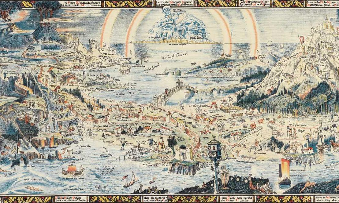 <i>An Ancient Mappe of Fairyland, Newly Discovered and Set Forth</i>, drawing by Bernard Sleigh (1925)
