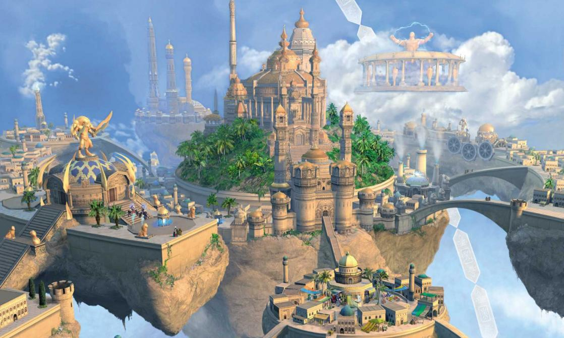 Floating city, <i>Might & Magic: Heroes V</i> (2006)
