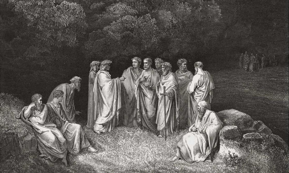 Limbo. Poets and Heroes, Dante Alighieri's <i>Inferno</i> illustrated by Gustave Doré (1861)