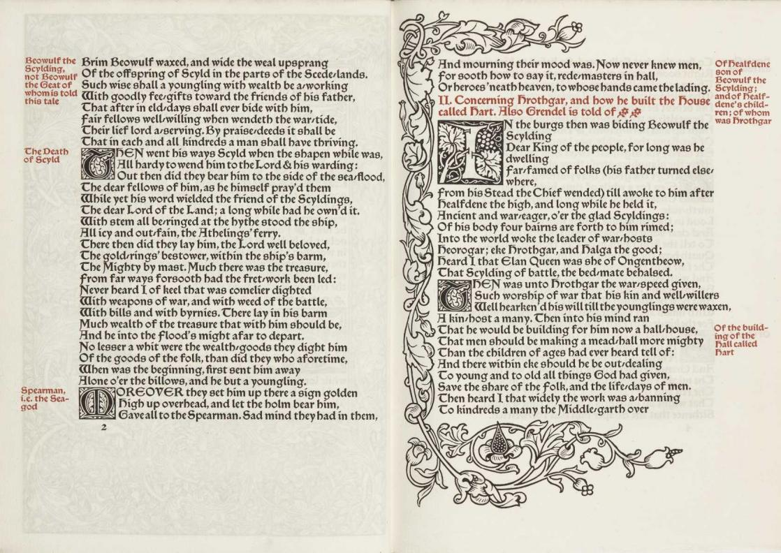 The tales of Beowulf, William Morris and A. J. Wyat