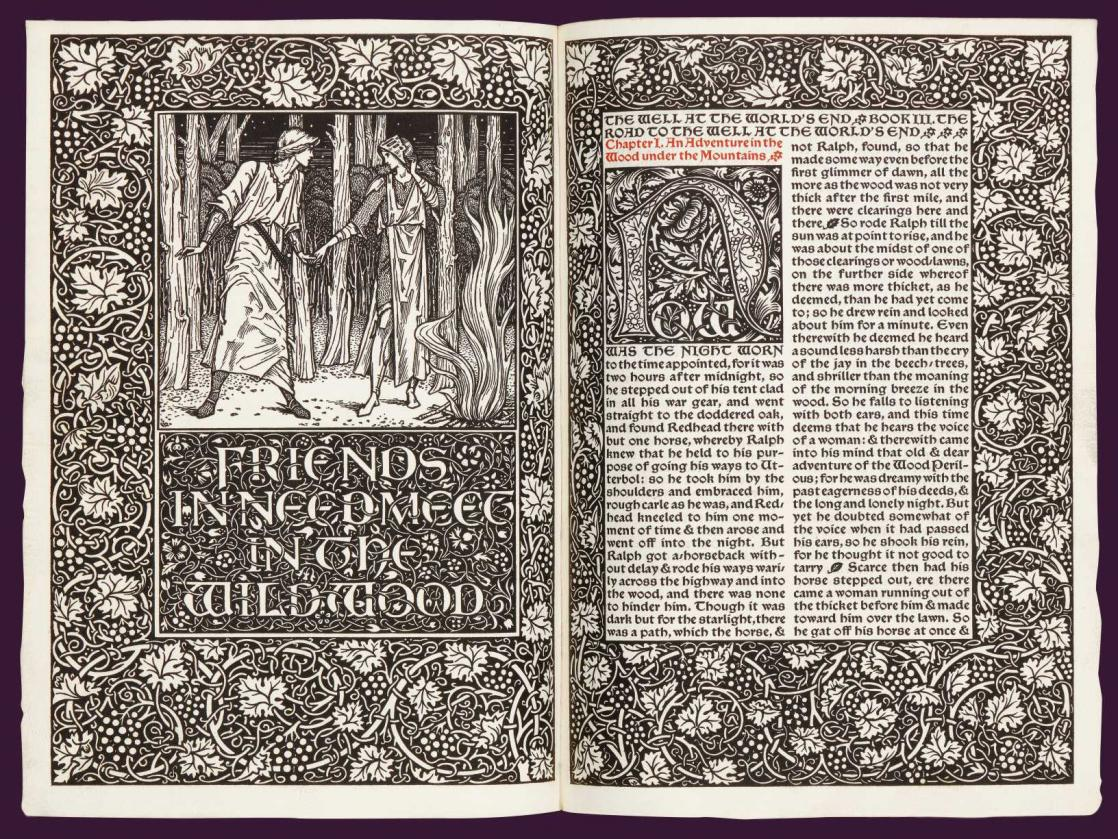 <i>The Well at the world's end</i>, by William Morris, illustrated by Edward Burne-Jones (1896)