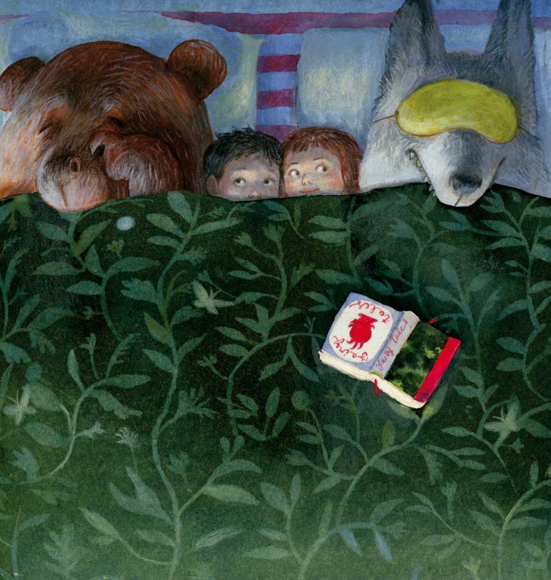 Les créatures du livre s'invitent sous la couette, illustration de Mariachiaria di Giorgio (2016)