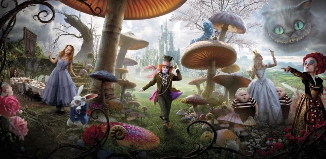 <i>Alice in Wonderland</i>, film by Tim Burton based on the book by Lewis Carroll (2010)