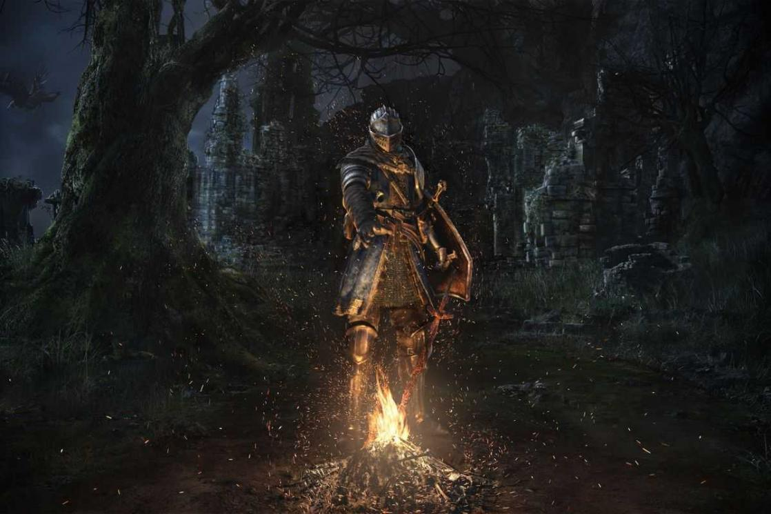Fire Sword, <i>Dark Souls Remastered</i>, Key Art (2018)