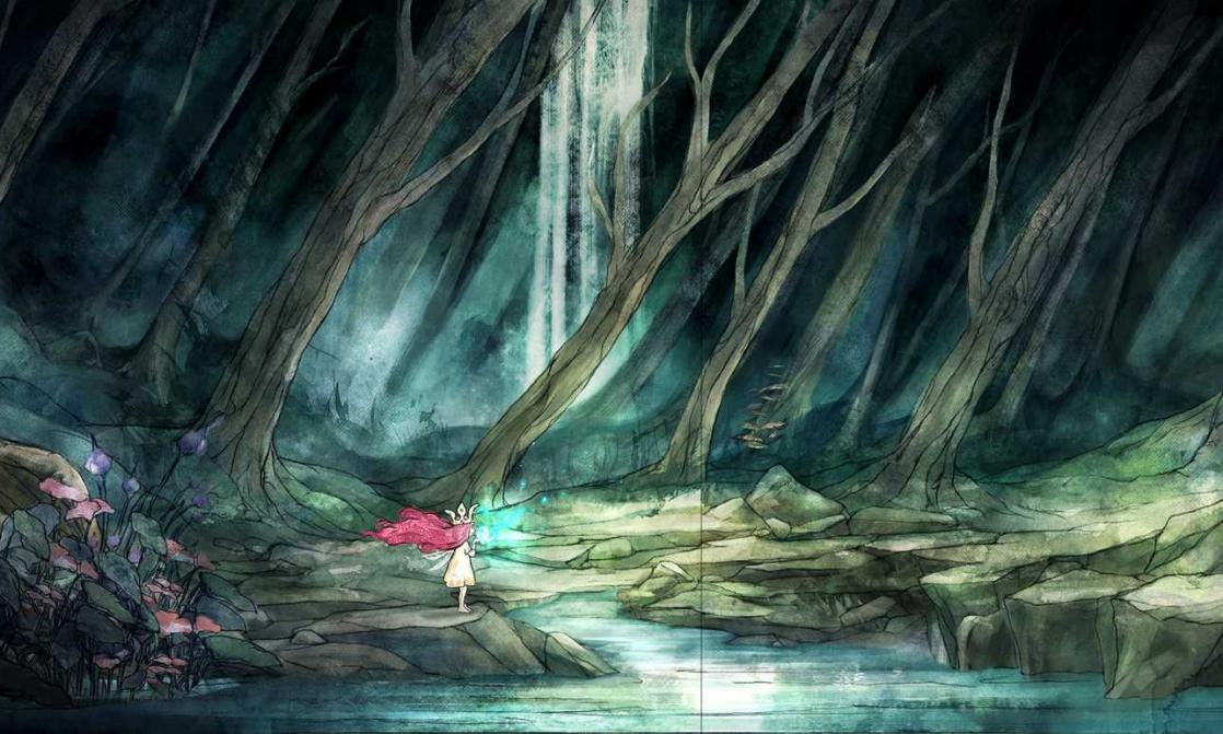 Aurora dans la forêt de Mathildis, <i>Child of light : Art Book</i> (2014)