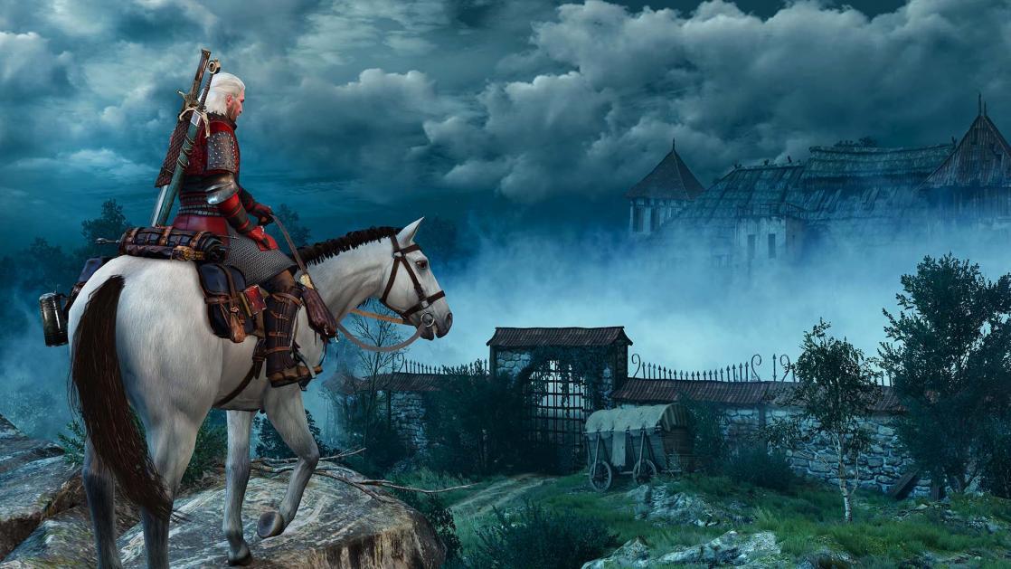 Geralt, <i>The Witcher 3 : Wild Hunt</i>, d'après <i>Le Sorceleur</i> d'Andrzej Sapkowski (2015)