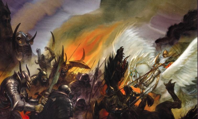 <i>The Darkest Road</i>, <i>The Fionavar Tapestry, 3</i>, by Guy Gavriel Kay, illustration by John Howe (1992)