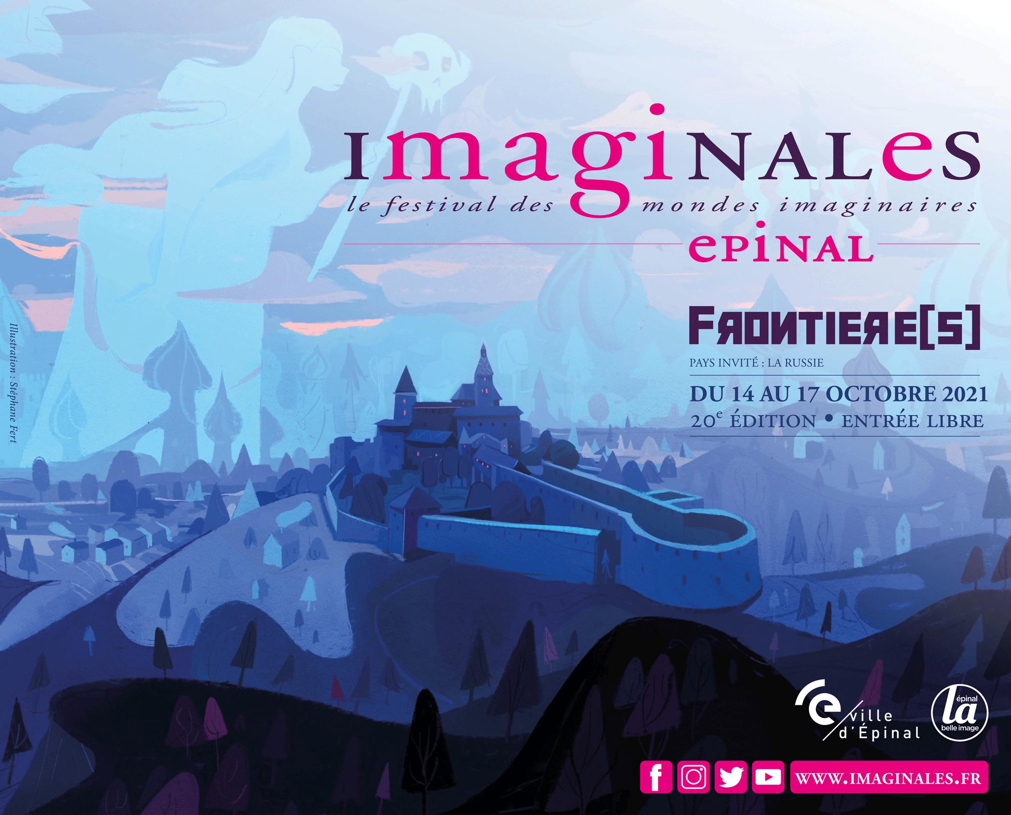 <i>Imaginales, Le festival des mondes imaginaires</i>, Affiche du festival 2021, illustration de Stéphane Fert (2021)