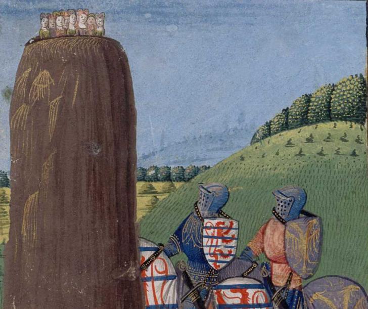 Morhaut et Gauvain à la Roche as Puceles, Lancelot du Lac