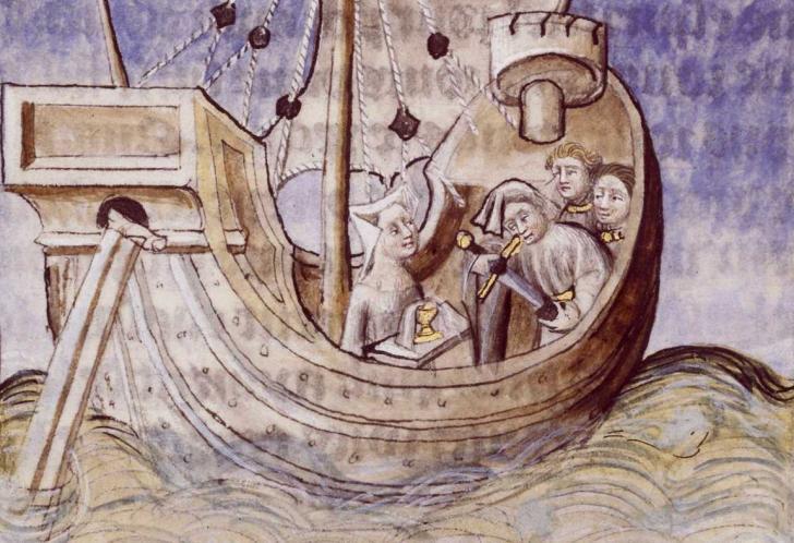 Galaad dans la nef merveilleuse, Tristan en prose
