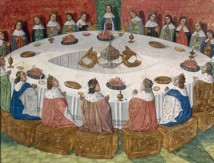 L'apparition du saint Graal aux chevaliers de la Table ronde, Lancelot du Lac