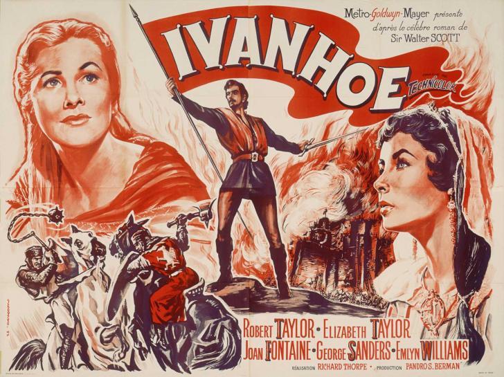 <i>Ivanhoé</i>, film de Richard Thorpe avec Robert et Elizabeth Taylor (1952)