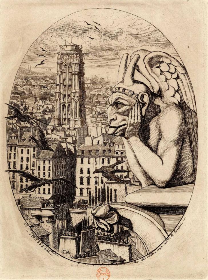 Le Stryge. Insatiable vampire, l'éternelle luxure...</br><i>Œuvre de Charles Meryon</i> (1853)