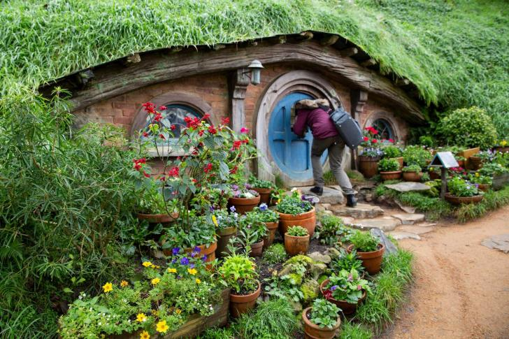 Hobbit home, Hobbiton ™ Movie Set, Amusement park based on the movie set of <i>The Hobbit</i> in New Zealand
