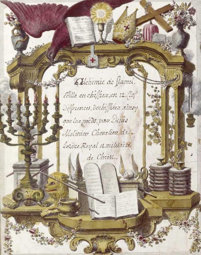 Alchemy: Instruments and symbols, <i>Livre d'Abraham le Juif. Livre des figures hiéroglyphiques </br>(The Book of Abraham the Jew. Hierogliphic Figures)</i> (18th century)