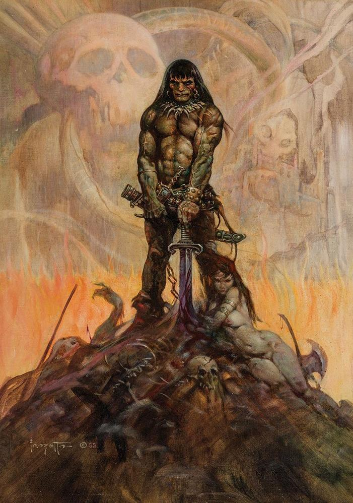 <i>Conan le Barbare</i>, illustration de Franck Frazetta d'après l'œuvre de Robert E. Howard