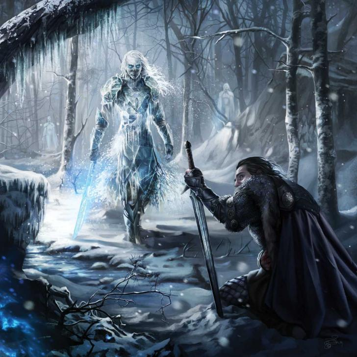Marcheur blanc, A Song of Ice and Fire Calendar, illustration de Magali Villeneuve (2016)