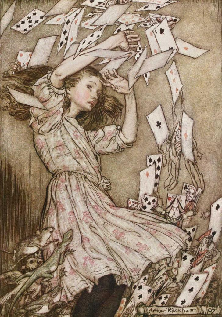 <i>Alice's Adventures in Wonderland</i>, by Lewis Carroll, illustrated by Arthur Rackham (1908)