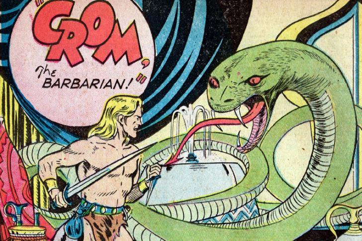 <i>Crom the Barbarian</i>, <i>Out of This World Adventures</i>, by Gardner Fox, illustrated by John Giunta (July 1950)